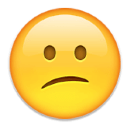 A frown emoticon